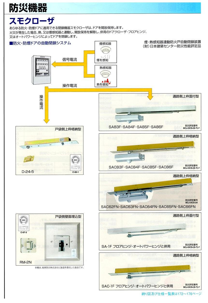 【メーカー取り寄せ品】 「D-24-5」 戸袋側上枠格納型 日本ドアーチェック製造株式会社 スモクローザ